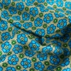 floral sunflower print silk twill fabric