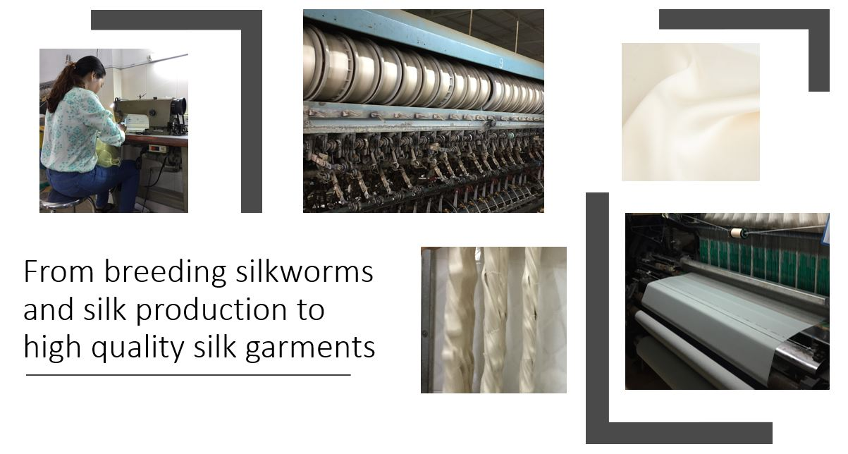 production process of manufacturing silk clothes
