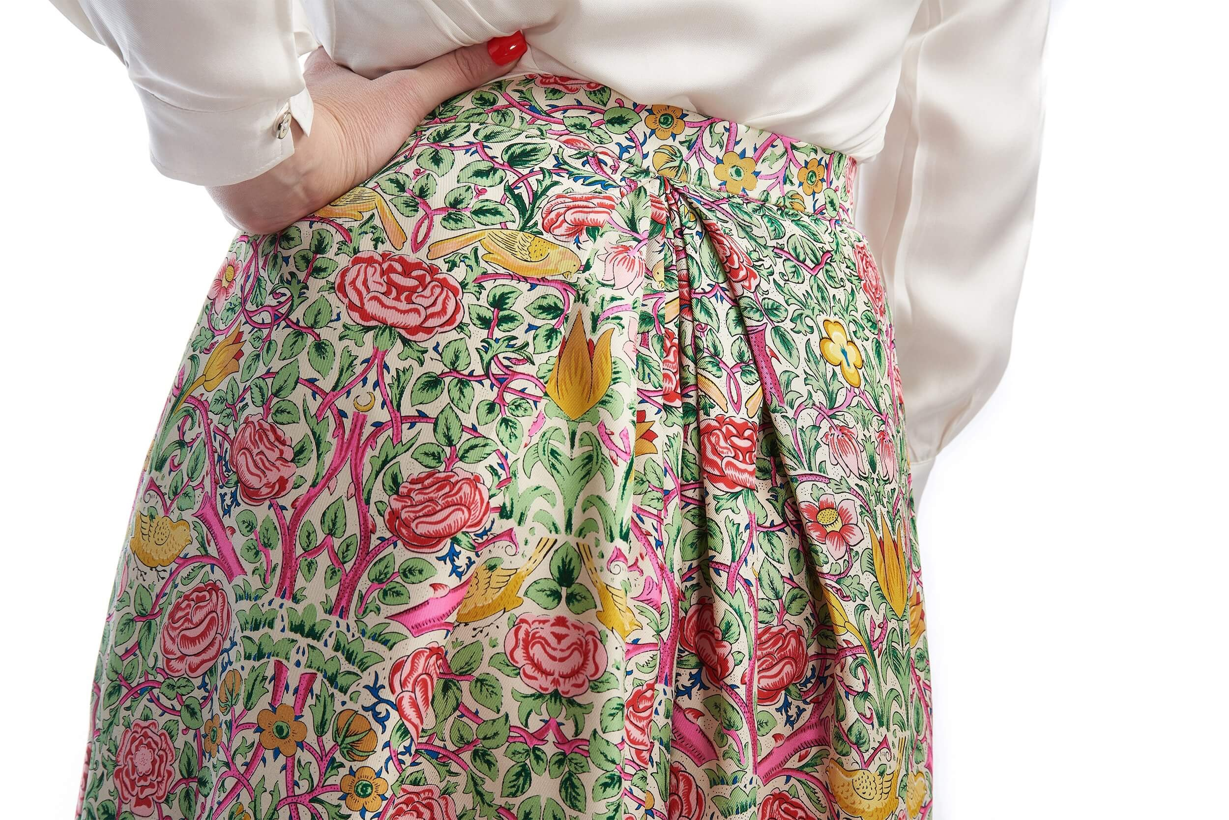 back pleats of the lucie customized skirt