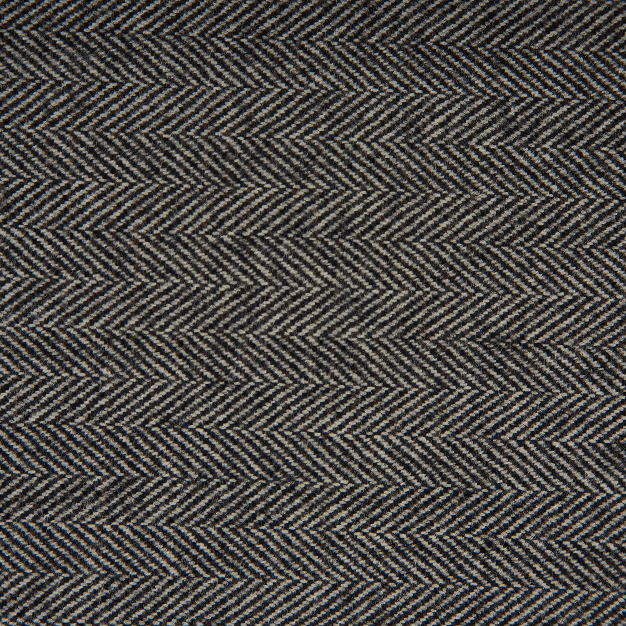 100% wool herringbone saxony fabric sample
